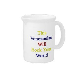 Este venezolano oscilará su mundo jarra para bebida