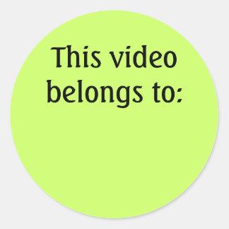 Este vídeo pertenece a: etiquetas redondas