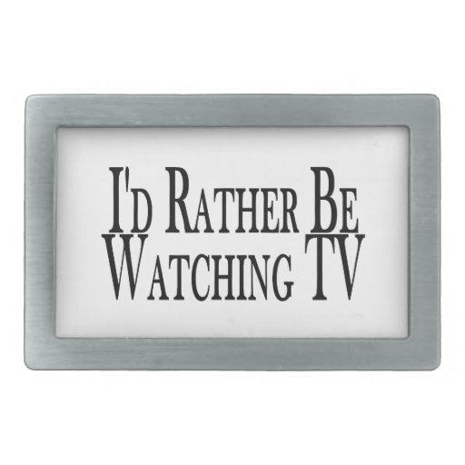 Esté viendo bastante la TV Hebilla Cinturon Rectangular