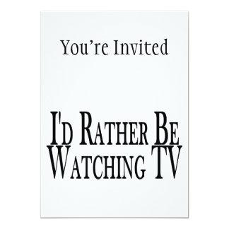 """Esté viendo bastante la TV Invitación 5"""" X 7"""""""