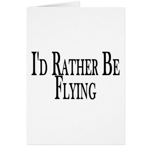 Esté volando bastante tarjeta de felicitación
