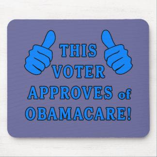 ESTE VOTANTE aprueba de Obamacare Alfombrilla De Ratón