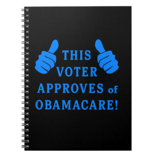 ESTE VOTANTE aprueba de Obamacare Libros De Apuntes Con Espiral