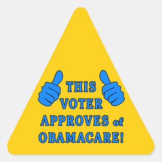 ESTE VOTANTE aprueba de Obamacare Colcomanias Trianguladas