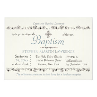 Esteemed Sacrament Religious Invitation (Blue)