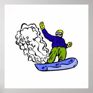 Estela de la snowboard impresiones