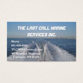 Estela del barco tarjetas de visita