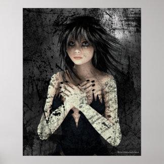 Estela del poster gótico del arte de la emoción