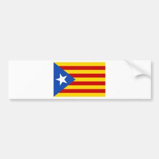 Estelada, bandera independentista de Catalunya Bumper Sticker