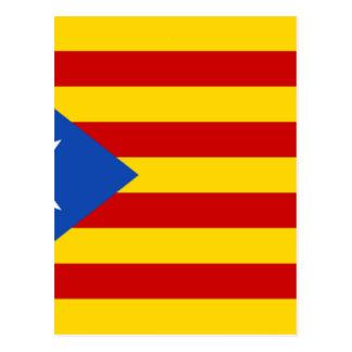 Estelada, bandera independentista de Catalunya Postcard