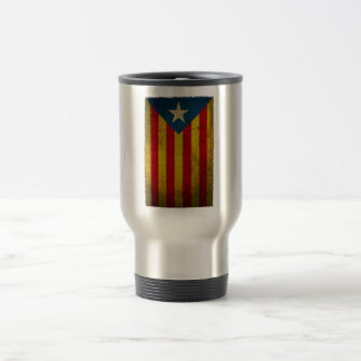 Estelada blava worn away travel mug
