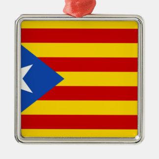 Estelada, independentista de Catalunya del bandera Adorno Navideño Cuadrado De Metal