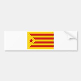 Estelada Roja - Bandera independentista Catalana Bumper Sticker