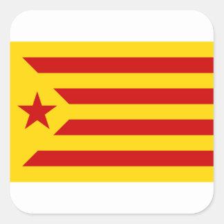 Estelada Roja - Bandera independentista Catalana Square Sticker