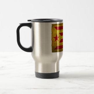 Estelada Vermella Antiga Desgastada Travel Mug