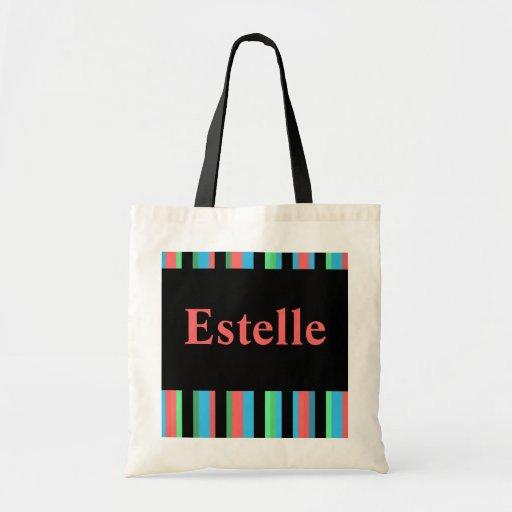 Estelle Pretty Striped Tote Bag