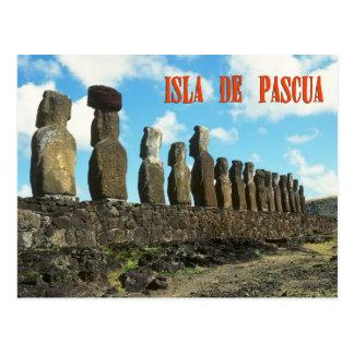 Ester island (Isla de Pascua) Postcard