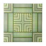 Estera de bambú azulejos