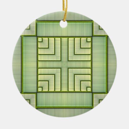Estera de bambú ornamente de reyes