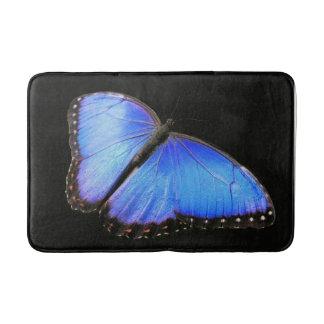 Estera de baño azul de la mariposa de Morpho