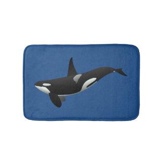 Estera de baño de la orca de la orca