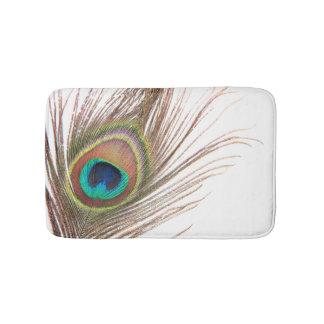 Estera de baño de la pluma del pavo real