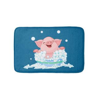 Estera de baño del cerdo del tiempo del baño