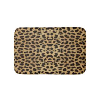 Estera de baño del estampado leopardo