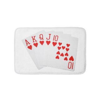 Estera de baño del póker