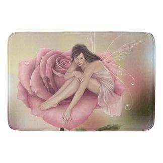 Estera de baño grande de hadas de la flor color de