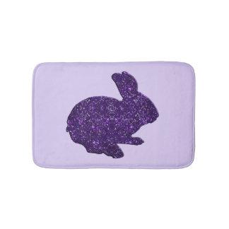 Estera de baño púrpura del conejo de conejito de