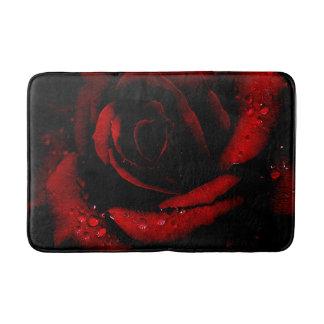 Estera de baño/rosa rojo