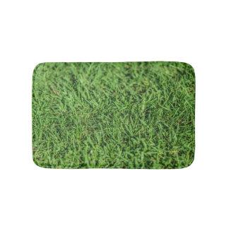 Estera de baño verde herbosa