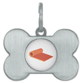 Estera de la yoga placa mascota