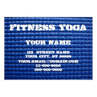 Estera de la yoga tarjetas de visita grandes