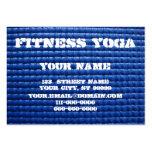 Estera de la yoga tarjeta de negocio