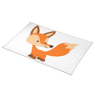 Estera de lugar amistosa linda del Fox del dibujo Mantel