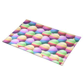 Estera de lugar colorida de los huevos de Pascua Mantel