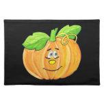 Estera de lugar de la calabaza de Halloween Mantel Individual