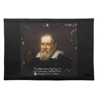 """Estera de lugar de la cita del cielo de Galileo """"m Mantel Individual"""