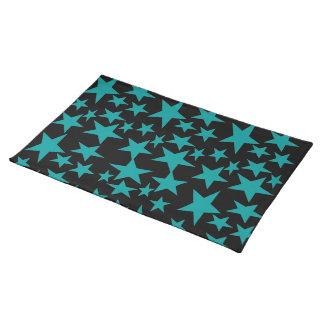 Estera de lugar de las estrellas azules manteles individuales