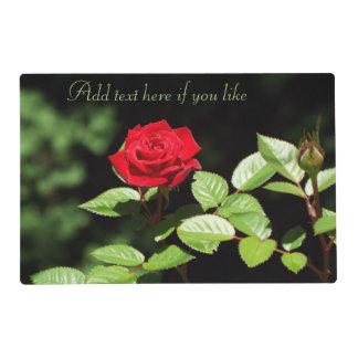 Estera de lugar de los rosas tapete individual