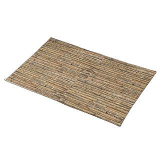 Estera de lugar de madera manteles individuales