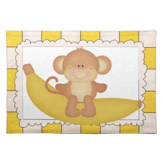 Estera de lugar del dibujo animado del mono del pl mantel