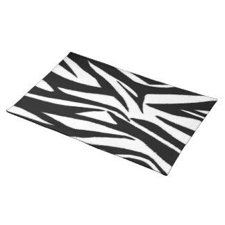 Estera de lugar del estampado de zebra mantel individual