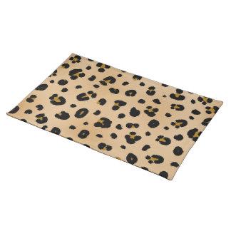 Estera de lugar del estampado leopardo manteles