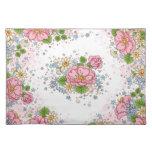 Estera de lugar del rosa de té (rosa) mantel individual