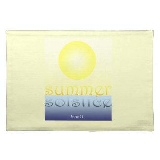estera de lugar del solsticio de verano mantel individual
