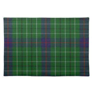 Estera de lugar elegante de la tela escocesa de mantel