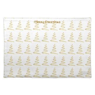 Estera de lugar estilizada del árbol de navidad de mantel